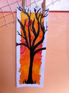 Art Lesson Plans, Autumn, Fall, Art Lessons, Art For Kids, Art Ideas, Rocks, Trees, Children