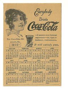 1910 Coca Cola Company Atlanta Georgia Pretty Lady Calendar Card | eBay