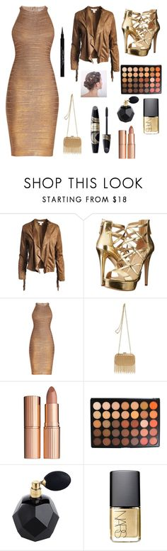"""""""dance time! XXX"""" by elenak-i on Polyvore featuring Sans Souci, GUESS, Hervé Léger, Inge Christopher, Charlotte Tilbury, Max Factor, Morphe, NARS Cosmetics and Givenchy"""