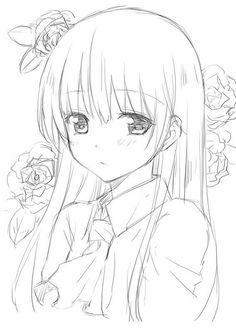New drawing anime girl sketches manga art ideas Anime Drawings Sketches, Anime Sketch, Manga Drawing, Kawaii Drawings, Cute Drawings, Drawing Eyes, Pencil Drawings, Anime Character Drawing, Owl Drawings
