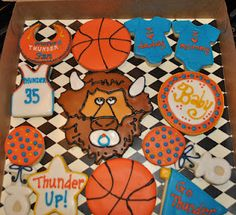 OKC Thunder Baby Shower cookies