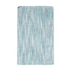 Ben de Lisi Home Blue broken striped reversible bathmat-   Debenhams