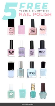 List of 5-Free Vegan and Cruelty-Free Nail Polish Brands. | @The GOCO Collective | Minimal Wardrobe + Cruelty-Free Beauty