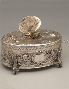 SILVER WARBLER BOX. This is so absolutely beautiful. It is also sterling silver (not plate), and therefore $3,995.