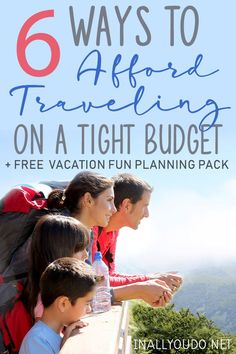 Contrary to popular belief, traveling doesn't have to be a ridiculous spending spree. If done carefully, anyone can travel - even on a tight budget! Free Vacations, Family Vacation Destinations, Family Vacations, Vacation Ideas, Travel With Kids, Family Travel, Tight Budget, What To Pack, New People