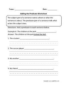 Adding the Predicate Worksheet