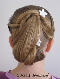 junior bridesmaids hairstyle
