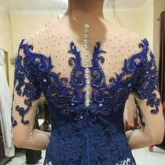 Gorgeous beads work evening gowns and dresses styles for women& Kebaya Lace, Kebaya Dress, African Traditional Wedding Dress, Traditional Dresses, Black Evening Dresses, Evening Gowns, Kebaya Sabrina, Kebaya Modern Dress, Model Kebaya