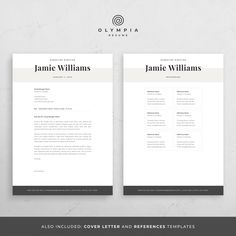 Modern Resume Template Creative CV for Word Elegant Design Creative Cv Template, One Page Resume Template, Modern Resume Template, Professional Cover Letter Template, Cover Letter For Resume, Cover Letters, Resume References, Software, Microsoft Word 2007