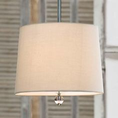 Regina Andrew Round Shade Pendant in Nickel-Small - traditional - pendant lighting - - by Candelabra
