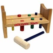 This classic pounding toy will provide hours of fun for your toddler! Work on hand-eye coordination with the 8 colorful wooden pegs, hammer and sturdy wooden bench - all while having fun! A great early-learning toy for your little one. Wooden Pegs, Wooden Puzzles, Toddler Toys, Baby Toys, Toddler Stuff, Old Fashioned Toys, Puzzles For Toddlers, Kids Blocks, Toy Trucks