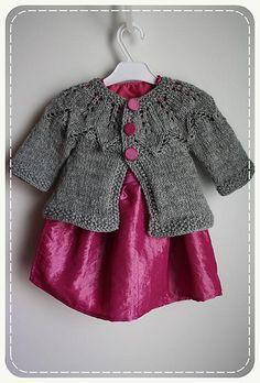 Free pattern. Baby Cardigan. Jacket. Knitting.