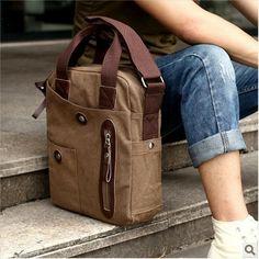 Free shipping men Portable canvas bag vertical messenger bag casual bag man commercial bag $30.50