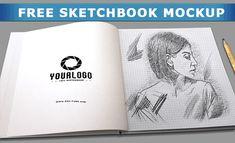 Free Sketchbook Mockup PSD (15.7 MB) | PSD Dude | #free #photoshop #mockup #psd #sketchbook