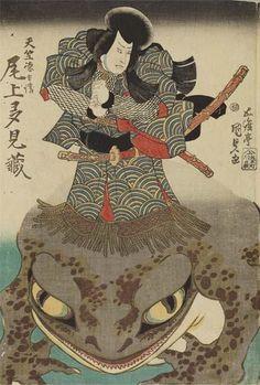 Utagawa Kunisada(歌川国貞)「二代目尾上多見蔵の天竺徳兵衛」
