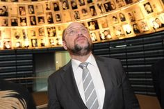 President of the European Parliament Martin Schulz in the Hall of Names at Yad Vashem