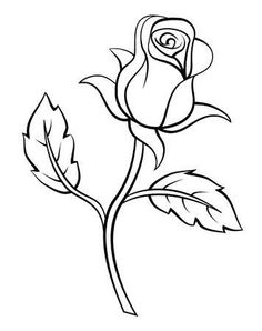 Rose Drawing Discover Rose Flower - Millions of Creative Stock Photos Vectors Videos and Music Files For Your Inspiration and Projects. Horse Drawings, Pencil Art Drawings, Easy Drawings, Drawing Art, Drawing Techniques Pencil, Colored Pencil Techniques, Flower Coloring Pages, Colouring Pages, Rosa Stencil