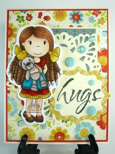 Beary Sweet Friend, DT Project for The Paper Nest Dolls, May 2015, created by Leah Tees, odetopaper.blogspot.ca
