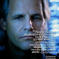 Chris Carter speaks the truth.