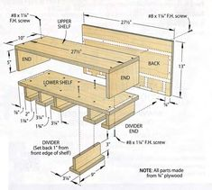 8 Adorable Cool Tips: Woodworking Workshop Couple woodworking joinery awesome.Woodworking Storage Cabinets woodworking tips helpful hints. Diy Garage Storage, Shop Storage, Garage Organization, Storage Ideas, Woodworking Organization, Organizing, Woodworking Projects Diy, Woodworking Jigs, Diy Wood Projects For Men