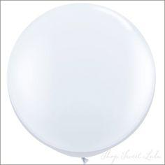 """36"""" Round Balloon: White Cloud"""