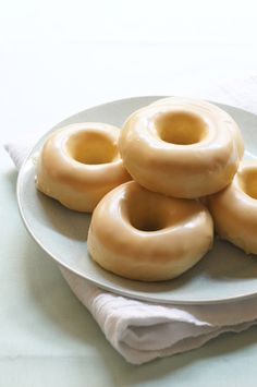Maple Glazed Vanilla Bean Donuts (Baked)