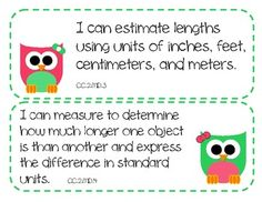 "2nd Grade Common Core Math Standards --- Currently on my TpT Store for *FREE*  (This offer will not last long...so grab them while you can.  Set includes 48 ""I Can..."" statements for math in a cute and colorful owl theme.  If you download the file, please leave me positive feedback (aka 4 Stars...wink, wink) on my TpT store.  ;)"