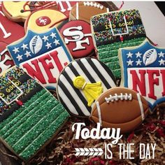 OMG!!!! I LOVE THE NFL COOKIES BUT THE WHINER COOKIES CAN GO IN THE TRASH