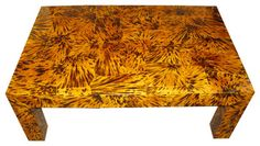 Lacquered Faux Tortoise Shell Coffee Table eclectic-coffee-tables