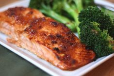 Barefeet In The Kitchen: Sweet and Spicy Glazed Salmon with Spicy Broccoli