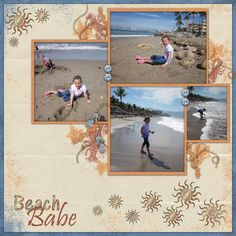 Kit: Sunburned by AmyDane Designs  Template: Snappy Scraps Templates Pack 3 by Fit 2 Be Scrapped!!