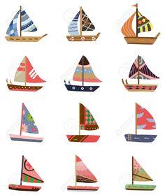 cartoon Sailboat icon