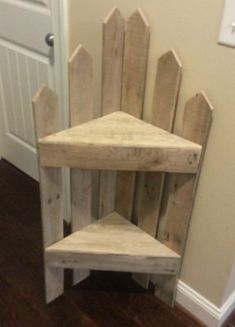 DIY furniture projects with wooden pallets - pallet corner shelf # Pallet furniture