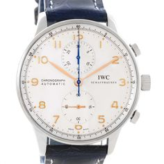 11890 IWC Portuguese Chrono Automatic Stainless Steel Mens Watch IW371445 SwissWatchExpo