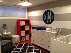 Project Nursery - navy and gray