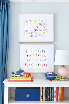 Bolts abstract kids art from Lindsay Letters Co