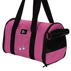 Corner Biz Pet  Portable Small Pet Dog Cat Sided Carrier Travel Tote Shoulder Bag Cage House Color Rose Red Size M >>> Click image to review more details.