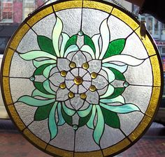 Tiffany Styled Stained Glass Window