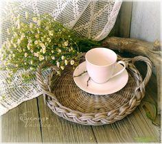Купить Поднос плетеный 'Кантри' - плетеный поднос, старенький, винтаж, прованс, кантри, загородный дом
