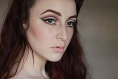 Cut crease with graphic eyeliner