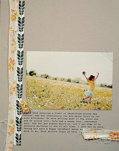 fabric strips. color. photo. beautiful.  instead of fabric strips use washi tape?