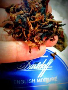 Sabor de Tabaco: Tabaco Davidoff English Mixture - abrindo a lata!