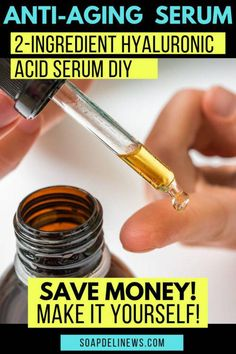 DIY Hyaluronic Serum. Save money on your anti-aging skin care products by making your own! With as few as 2-ingredients you can make your own DIY hyaluronic acid serum. Or add a few more ingredients for a power packed vitamin C serum! Learn about hyaluronic serum benefits and how to add homemade skin care products to your daily anti-aging beauty regimen and natural skin care routine. An inexpensive beauty hack to up your anti-aging skin care regimen using homemade beauty products. #antiaging Homemade Skin Care, Diy Skin Care, Homemade Beauty, Homemade Facials, Anti Aging Serum, Anti Aging Skin Care, Hyaluronic Serum, Face Masks, Organic Skin Care