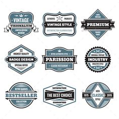 9 Labels and Badges #jpg #image #illustration #badge • Available here → https://graphicriver.net/item/-9-labels-and-badges/9927766?ref=pxcr