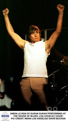 Simon Le Bon and Duran Duran performing at the house of blues
