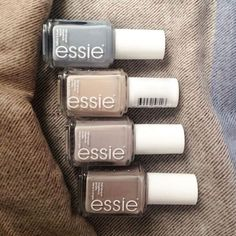 Essie Nail Shades l Fall Nails, Essie Nail Polish, Nail Ideas, Beauty Cute Nails, Pretty Nails, Hair And Nails, My Nails, Essie Nail Polish Colors, Fall Nail Polish, Natural Nail Polish, Nail Polishes, Gloss Matte