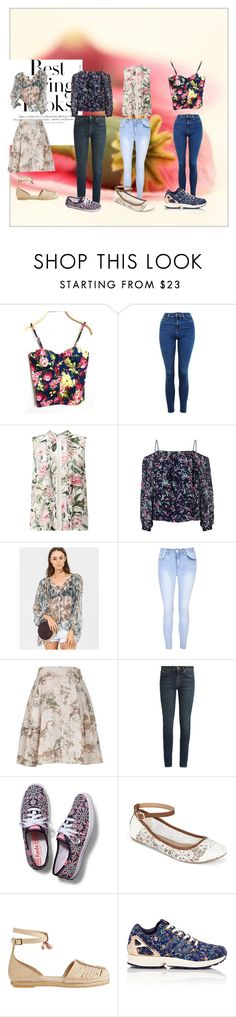 """""""spring style time"""" by kiramira-589 ❤ liked on Polyvore featuring WithChic, Topshop, Miss Selfridge, H&M, Greylin, Zimmermann, Glamorous, Melissa McCarthy Seven7, Yves Saint Laurent and Keds"""