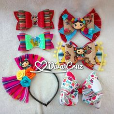 Image of Concha/Coffee Hair Bow Making Hair Bows, Diy Hair Bows, Diy Bow, Diy Ribbon, Mexican Hairstyles, Diy Hairstyles, Baby Bows, Baby Headbands, Felt Flower Pillow