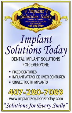 Dental implants can give you your smile back. Dr. Turbyfill can help you smile. www.implantsolutionstoday.com | 1-844-FIXBIT | implantsolutions.blogspot.com  #orangecitydentist #orangecitydentalimplants #orangecityoralsurgeon