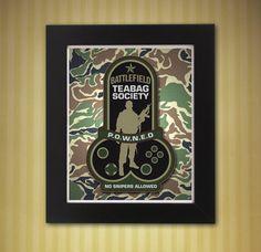 Battlefield Teabag Society Patch Print 8x10 by KnerdKraft on Etsy
